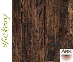Hickory Prefinished Engineered Distressed hardwood floors by ARK Floors.  Finish Shown: MOCHA DISTRESSED  www.shop4floors.com