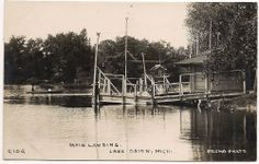 Lake Orion, Michigan, Main Boat Landing, PESHA #9109 RPPC Lake Orion Michigan, Folklore, Landing, Detroit, Maine, Legends, Boat, Community, History
