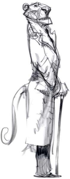 Peter De Seve cartoon sketch tiger
