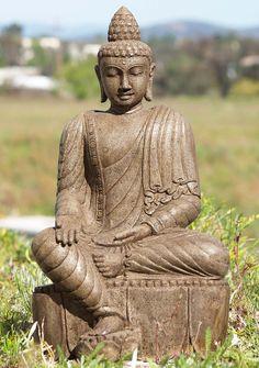"""View the Stone Varada Mudra Buddha Statue 24"""" at Hindu Gods"""