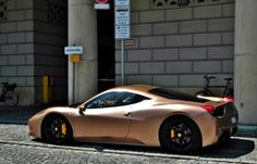 Ferrari 458 in Rose-Gold = Beautiful