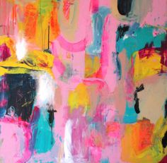 LARGE ABSTRACT Painting Multicolor Abstract Art by FineArtSeen