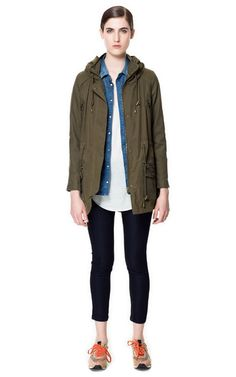 Image 1 of PARKA WITH COLLAR ENCLOSURE from Zara