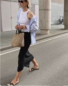 Stylish Summer Outfits, Spring Outfits, Casual Outfits, Tank Top Outfits, Mode Outfits, Fashion Outfits, Womens Fashion, Fashion Tips, Look Fashion