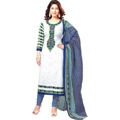 Charming Printed Unstitched Polycotton Casual Wear Suit at just Rs.410/- on www.vendorvilla.com. Cash on Delivery, Easy Returns, Lowest Price.