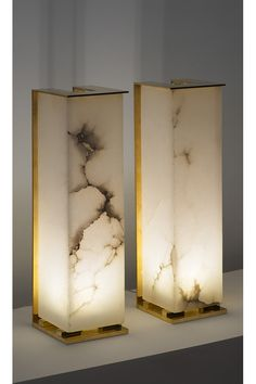 Alabaster lamps by Philippe Cholet
