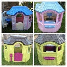 pixels - Ivy Verona ʚϊɞ - Re-Wilding Little Tykes Playhouse, Backyard Playhouse, Build A Playhouse, Playhouse Ideas, Baby Diy Projects, Backyard Projects, Projects For Kids, Diy For Kids, Outdoor Toys