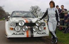 Michèle Mouton and her Quattro in Audi Sport, Sport Cars, Race Cars, Audi Gt, Women Drivers, Top Cars, Rally Car, Car And Driver, Michel