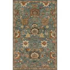 Hand-hooked Prescott Blue/ Rust Wool Rug - 3'6 x 5'6 - Free Shipping Today - Overstock - 22279242