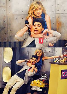 "Zayn Malik and Jennette McCurdy (Sam) on ""iCarly"" Zayn Malik, Jennette Mccurdy, Zac Efron, Best Tv Shows, Favorite Tv Shows, Disney Viejo, Icarly And Victorious, Drake And Josh, Nickelodeon Shows"