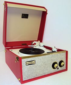 1960s Dansette Record Player (I miss my record player; miss the smell of a new record just out of its packaging)