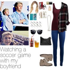 Watching a soccer game with Niall by myllenna-malik on Polyvore featuring Rails…