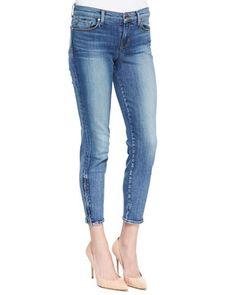 835 Denim Ankle Zip Capri Pants, Tone by J Brand Jeans at Neiman Marcus.