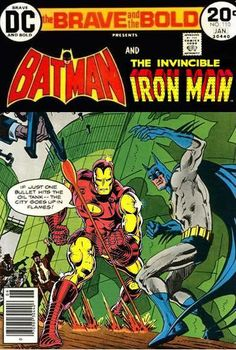 Super-Team Family: The Lost Issues!: Batman and Iron Man Dc Comics Vs Marvel, Bd Comics, Archie Comics, Batman Comics, Comic Book Covers, Comic Books, Crimson Avenger, Marvel And Dc Crossover, Demolition Man