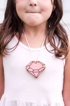DIY Kids Party Favor - Gem Cookie Necklace