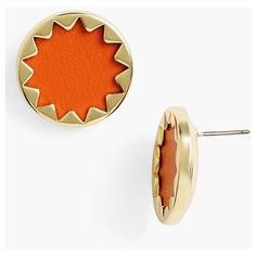 Women's House of Harlow 1960 Sunburst Button Earrings ($29) ❤ liked on Polyvore featuring jewelry, earrings, house of harlow 1960 jewelry, cut out jewelry, earrings jewelry, button jewelry and stud earrings