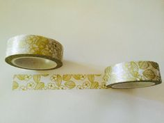 Back in stock! Gold Foil Blossoms Washi Tape by GoatGirlMH on Etsy