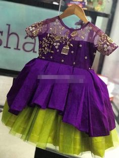 Baby girl dresses traditional 26 ideas for 2019 Kids Party Wear Dresses, Kids Dress Wear, Baby Girl Party Dresses, Kids Gown, Dresses Kids Girl, Dance Dresses, Kids Wear, Girls Frock Design, Baby Dress Design