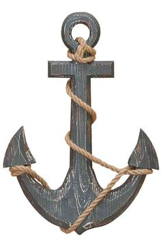 Wood anchor with rope nautical decor - Size: 18 in High, 12 in Wide *Material: Well seasoned quality wood, Varnished to make it long lasting *Color: Black * Exhibits special liking for nautical wall art; Classic wall decoration; Designed for elite class decor enthusiasts