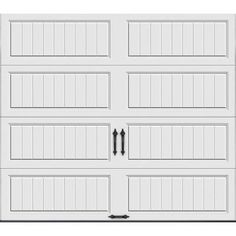 Clopay Gallery Collection 8 Ft. X 7 Ft. 6.5 R Value Insulated Solid White Garage  Door