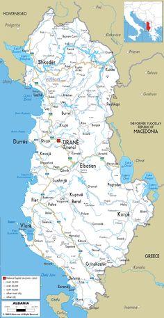 road map albania - ezilon