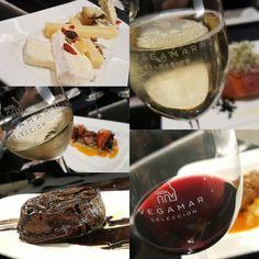 Hoy hemos cenado en Vegamar Selección su menú degustación con maridaje de 1 cava y 2 vinos. Un buen plan para disfrutar los viernes y sábados noche.
