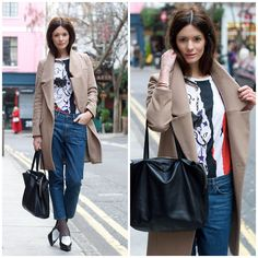 Get this look: http://lb.nu/look/2986725  More looks by Hedvig ...: http://lb.nu/northern  Items in this look:  Cos Jeans, Balenciaga T Shirt, Oasis Coat, Céline Bag, Céline Shoes