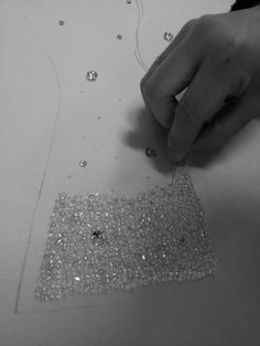 Hand-sewing Beads, Making a wedding dress