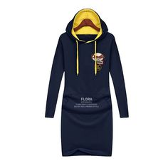 Sweatshirt Leisure Big Yards Long Sleeve Hooded Dress //Price: $32.99 & FREE Shipping //     #freeshipping
