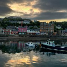 """jimrichardsonng: """" Sunrise over the harbor in Oban,Scotland today. Shot on assignment on the Scotland Photo Adventure with National Geographic Expeditions. Places In Scotland, Scotland Travel, Oban Scotland, National Geographic Expeditions, Cruise Port, Explorer, New Energy, Travel Inspiration, Travel Ideas"""