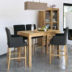 Table haute de salle à manger en bois de sheesham massif L 150 cm
