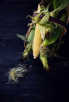 corns in a basket | by lisa_shen(not affiliated with any restaurants)
