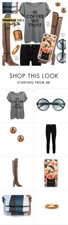 """""""Pumpkin Spice Style"""" by stacey-lynne ❤ liked on Polyvore featuring Thread Tank, Tom Ford, Frankie & Stein, Paige Denim, Sigerson Morrison, Casetify, Marni and Mishky"""