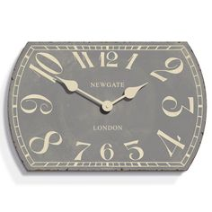 Discover the Newgate Clocks Theatre Clock - Overcoat Grey - 55cm dia at Amara
