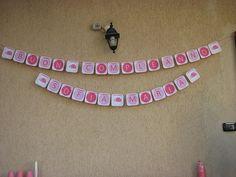 pink ladybug party banner