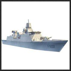 De Zeven Provinciën Class Frigate Free Ship Paper Model Download