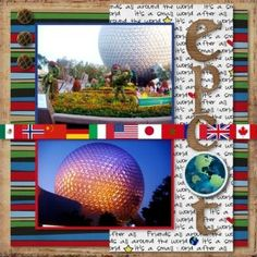 Epcot World Showcase - I like the flags for the countries in World Showcase.