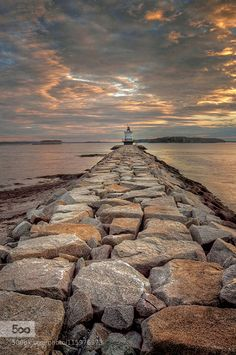 Muted Sunrise Spring Point Lighthouse by alborr - Tagged by Mak Khalaf