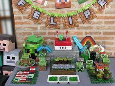 Cumpleaños temático de Minecraft, ideas para decorar la fiesta y la mesa