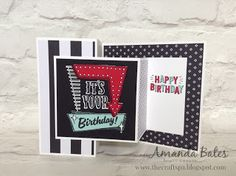 The Craft Spa - Stampin' Up! UK independent demonstrator : Marquee Messages Double Z Joy Fold card