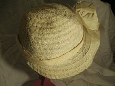 1950s Ladies Cream Bonnet Style Hat by Petticoatjanevintage, £15.00