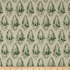 Add a touch of affordable luxury to your home with Lacefield Designs fabrics. This heavyweight (approximately 11.5 ounces per square yard) basketweave fabric features a lovely blend of cotton and linen for the utmost in versatility and great texture. Perfect for use in upholstery projects, heavier draperies, valances, toss pillows and more. Colors include natural and shades of green.