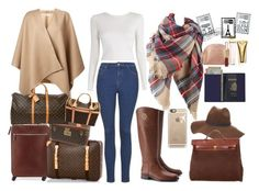 """Time to travel in plaid"" by meliki ❤ liked on Polyvore featuring Tory Burch, Charlotte Russe, Hermès, Brunello Cucinelli, Michael Kors, Topshop, Burberry, Royce Leather, Casetify and A.L.C."