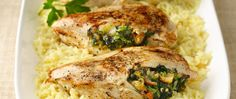 Stuffed chicken breasts are a great way to make your chicken dinner fun again. Served on a bed of rice or with a side of vegetables, they make an easy weeknight dinner that comes together in a flash. These Spinach-Stuffed Chicken Breasts don't skimp on flavor – they're also filled with bacon, onion, and cheese, and seasoned with garlic, thyme and pepper. The best part? They're ready to eat in under an hour.