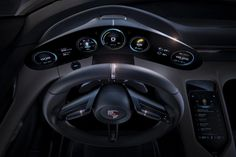 Porsche recently introduced the Mission E at the International Motor Show in Frankfurt, Germany. The Mission E is Porsche's first all-electrically powered four-seat sports car. Frankfurt, Porsche 911 Gt3, Porsche Mission E, Tesla Model S, Porsche Electric, Electric Car Concept, Electric Vehicle, Electric Sports Car, Car Ui