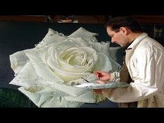Large Flower Paintings of Dewdrop Covered Roses by Gioacchino Passini █▬█ █ ▀█▀ - YouTube