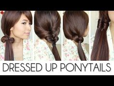 Dressed Up Ponytail Hairstyles for Medium Long Hair Tutorial