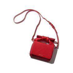 リボンミニショルダー ❤ liked on Polyvore featuring bags, handbags, white purse, white handbags and white bag