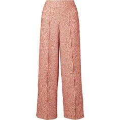 By Malene BirgerCelsa Bouclé Wide-leg Pants (7.215.075 IDR) ❤ liked on Polyvore featuring pants, red, high-waisted trousers, red pants, evening pants, wide leg pants and wide leg beach pants
