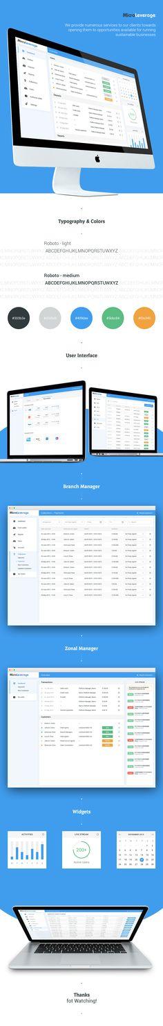 Company Sales Dashboard on Behance